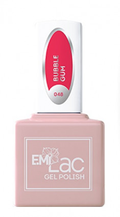 E.MI 048 NEON гель-лак для ногтей, Бабл Гам / E.MiLac 6 мл