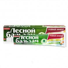 Лесной Бальзам Зубная паста Тройной эффект мята и смородина на отваре трав 75мл ЛЕСНОЙ БАЛЬЗАМ