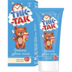 Тик-Так Детская зубная паста Фруктовое мороженое 2+, 62г ТИК-ТАК