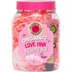 Планета органика набор Love Pink: бомбочка 120г+маска 30мл+гель для душа 50мл Planeta Organica