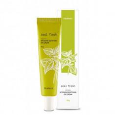 интенсивный успокаивающий крем для глаз deoproce real fresh vegan intensive soothing eye cream