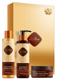 ZEITUN Набор подарочный Экспресс-ритуал восстановления (гель для душа 250 мл, молочко для тела 200 мл, крем-масло 60 мл)
