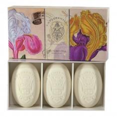 La Florentina мыло Флорентийский Ирис набор 3шт по 150г