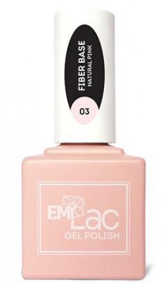 E.MI Основа базовая гель-лаковая №3 / E.MiLac Fiber Base Gel Natural Pink 15 мл