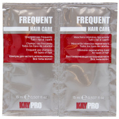 KAYPRO Набор для волос (шампунь 15 мл + маска восстанавливающая интенсивная 15 мл) Frequent