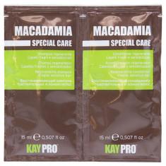 KAYPRO Набор для волос (шампунь 15 мл + кондиционер увлажняющий 15 мл) Macadamia