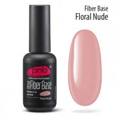 PNB База файбер розовый нюд / Fiber Base PNB UV/LED, Floral Nude 8 мл