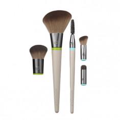 ECOTOOLS Набор кистей для макияжа (5 сменных насадок + 2 ручки) Interchangeables Daily Essentials Total Face Kit