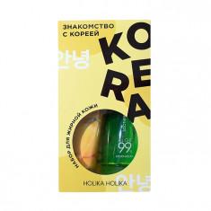 HOLIKA HOLIKA Набор для ухода за жирной кожей лица Знакомство с Кореей (гель 250 мл, пенка 120 мл, тканевая маска 20 мл) Holika Holika