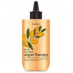 маска для волос с аргановым маслом deoproce argan therapy repair treatment