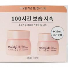 набор питательных кремов с коллагеном etude house  moistfull collagen cream set(19ad)