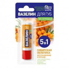 Фитокосметик Народные рецепты бальзам для губ сибирская облепиха 4,8г ФИТОКОСМЕТИК
