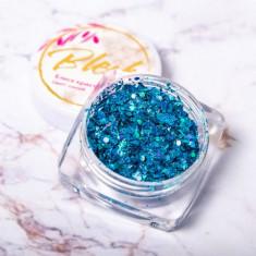 Blesk, Дизайн для ногтей «Блеск кристаллов», синий