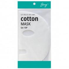 набор сухих масок на тканевой основе singi cotton mask