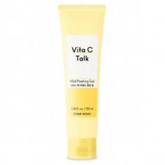 пилинг-гель для лица etude house  vita c-talk mild peeling gel