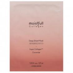 тканевая маска для лица с коллагеном и керамидом etude house  moistfull collagen deep sheet mask