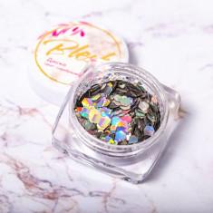 Blesk, Дизайн для ногтей «Диско», серебряный