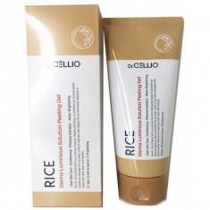 пиллинг-гель с экстрактом рисовых отрубей dr.cellio  rice derma luminous solution peeling gel
