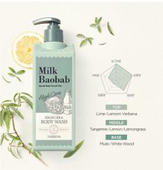 гель для душа с ароматом вербены milkbaobab high cera body wash verbena