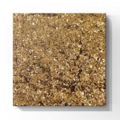 De.Lux, Шестигранные блестки для ногтей, золото, 1 мм